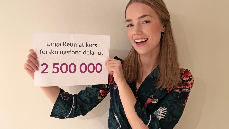 Rekordutdelning från Unga Reumatikers forskningsfond