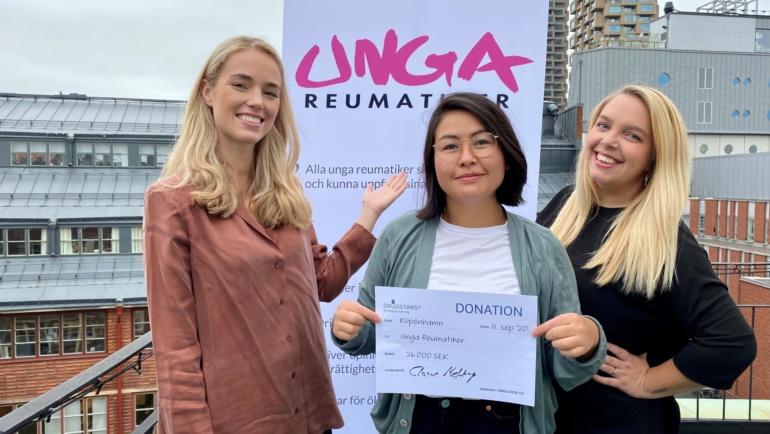 Utdelning från DrugStars: 26 000 kronor till Unga Reumatiker